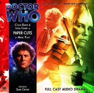 "Big Finish ""Paper Cuts"" signed by Colin Baker"